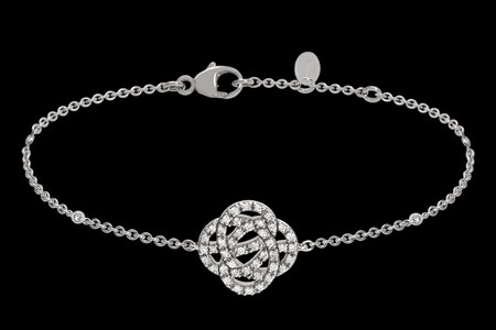 Bracelet or gris et diamants