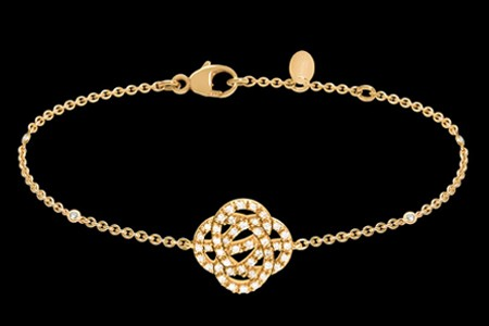 Bracelet or jaune et diamants