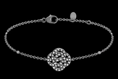Bracelet or noir et diamants