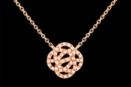 Collier GM or rose et diamants